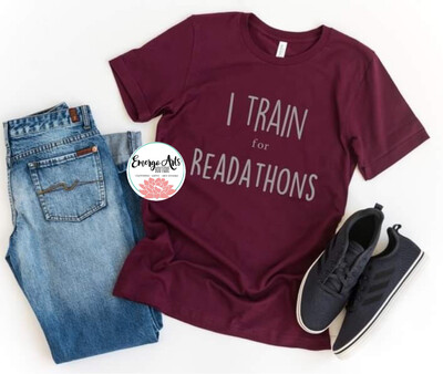 I Train for Readathons Books Tee