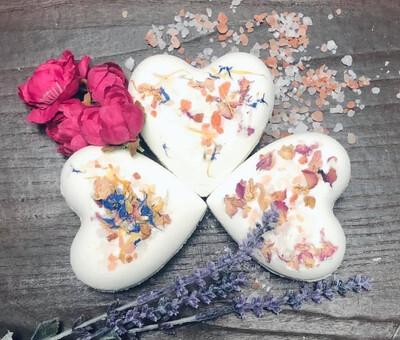 All My Heart Floral Milk Bath bomb