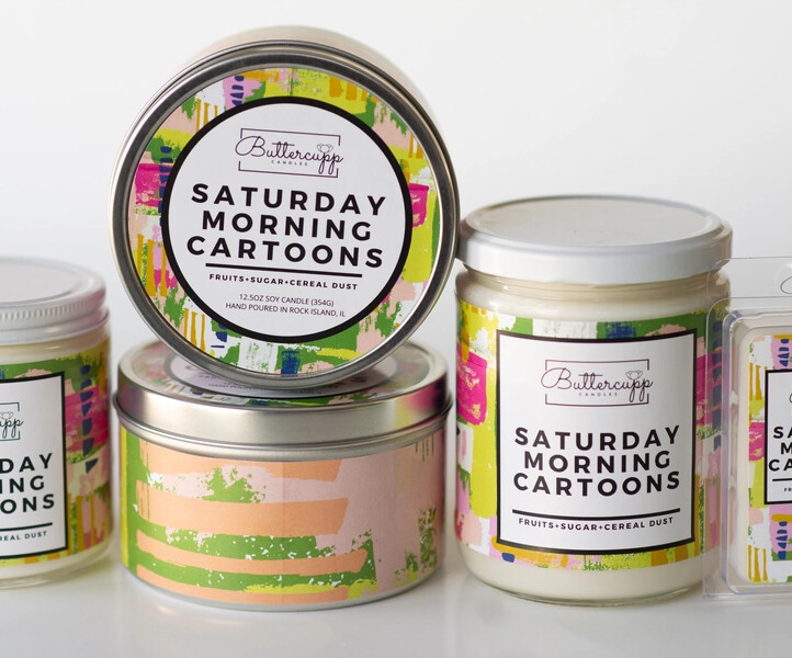 Saturday Morning Cartoons - Buttercup Candles (Multiple Sizes)