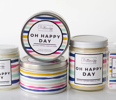 Oh Happy Day - Buttercup Candles (Multiple Sizes)