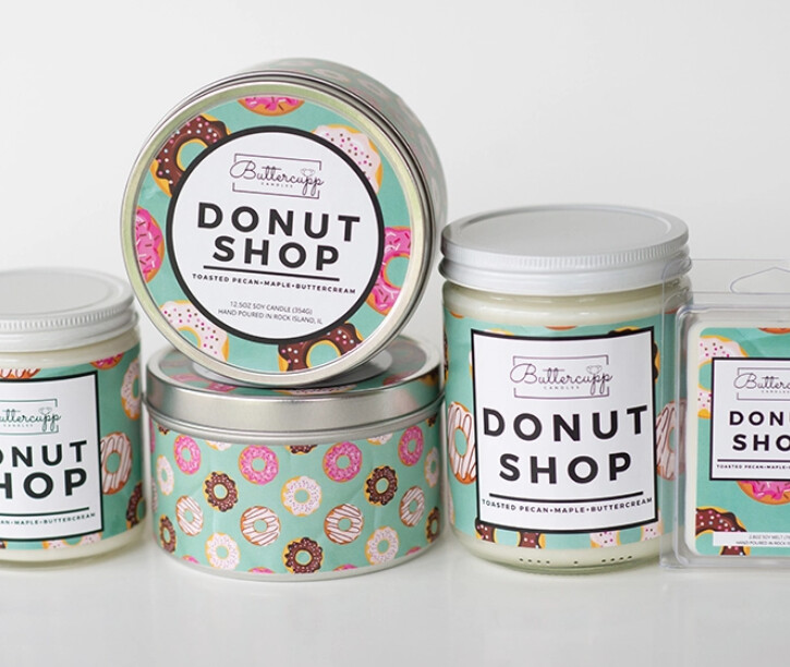 Donut Shop - Buttercup Candles (Multiple Sizes)