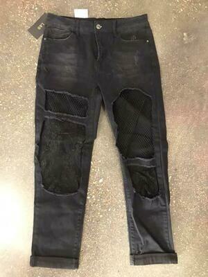 L & B Black Lace Jeans