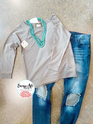 L & B Cut Out Jeans