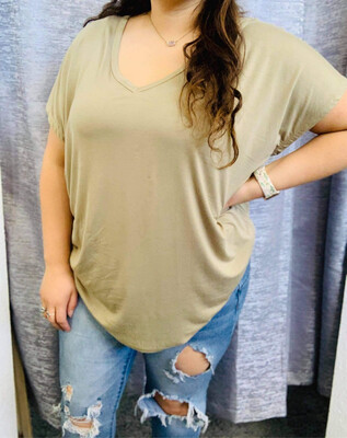 Beaux Olive Top