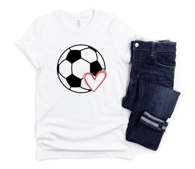 Soccer Heart Tee Shirt