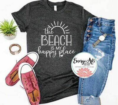 Beach is my Happy Place Tee Shirt