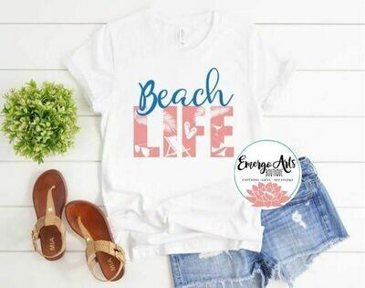 Beach Life Place Tee Shirt