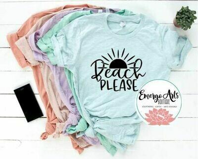 Beach Please Tee Shirt