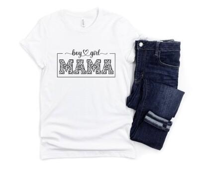 Leopard Boy Girl Mama Shirt