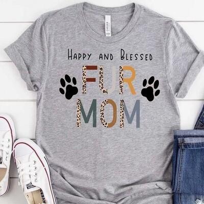 Fur Mom Leopard Print Mom Shirt
