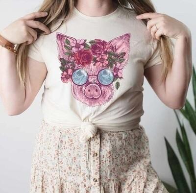 Floral Piggy Shirt