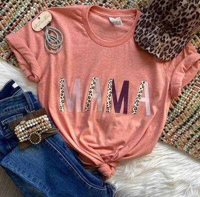 Mama Leopard Print Mom Shirt