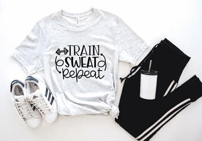 Train Sweat Repeat Tank or Tee