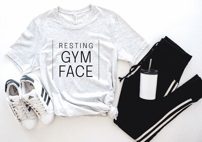 Resting Gym Face Tank or Tee