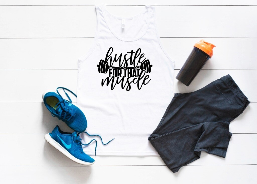 Muscle Hustle Tank or Tee