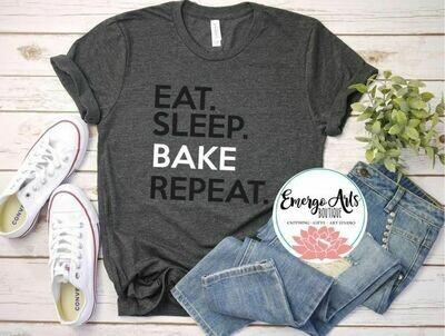 Eat Sleep Bake Repeat Tee