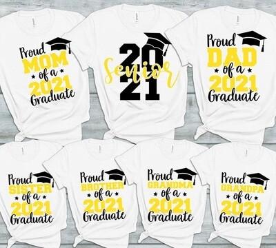 Senior Family Class of 2021 Graduation Tee