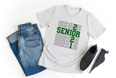 Class of 2021 Stacked Senior  Graduation Tee