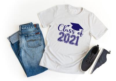 Senior Class of 2021 distressed Graduation Tee