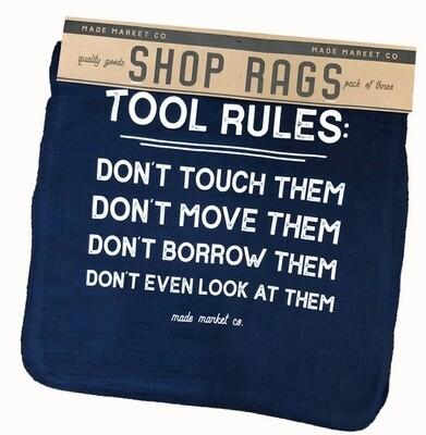 Tool Rules Shop Rag Set