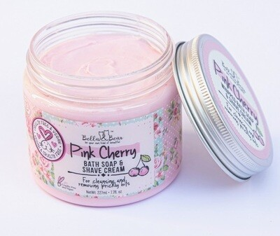 Pink Cherry Whipped Bath Soap & Shave Cream