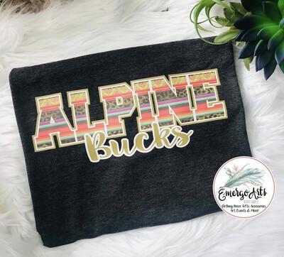 Serape Alpine Bucks Spirit Tee