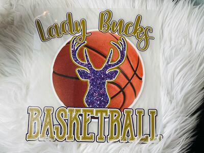 Lady Bucks Basketball Alpine Bucks Spirit Tee