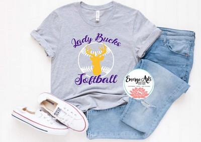 Alpine Lady Bucks Softball Spirit Tee