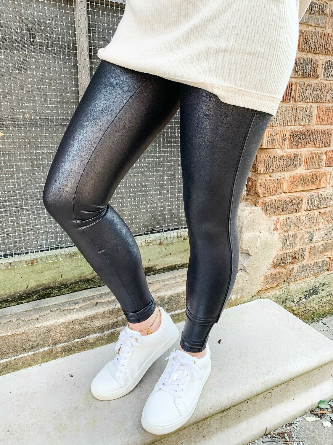 Spanx Faux Leather Legging: Black