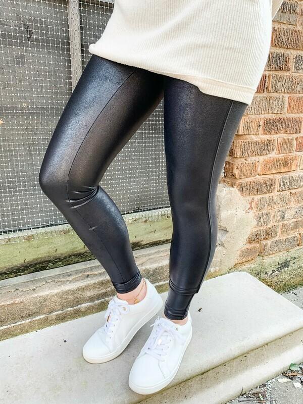 Spanx Faux Leather Legging: Black