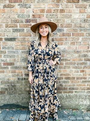 Autumn Floral Maxi Dress