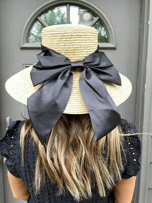 Anarchy Street Sunhat With Black Ribbon