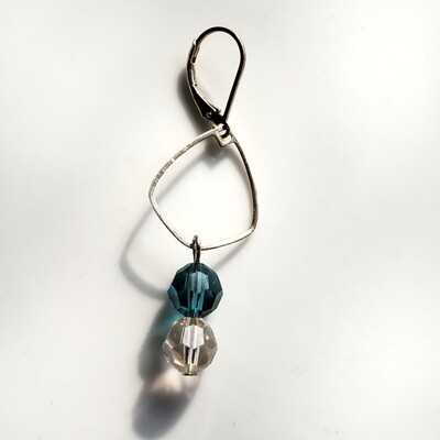 Sterling silver dangle earrings with Swarovski Crystal beads