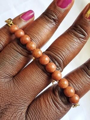 Handmade Beaded Goldstone Bracelet