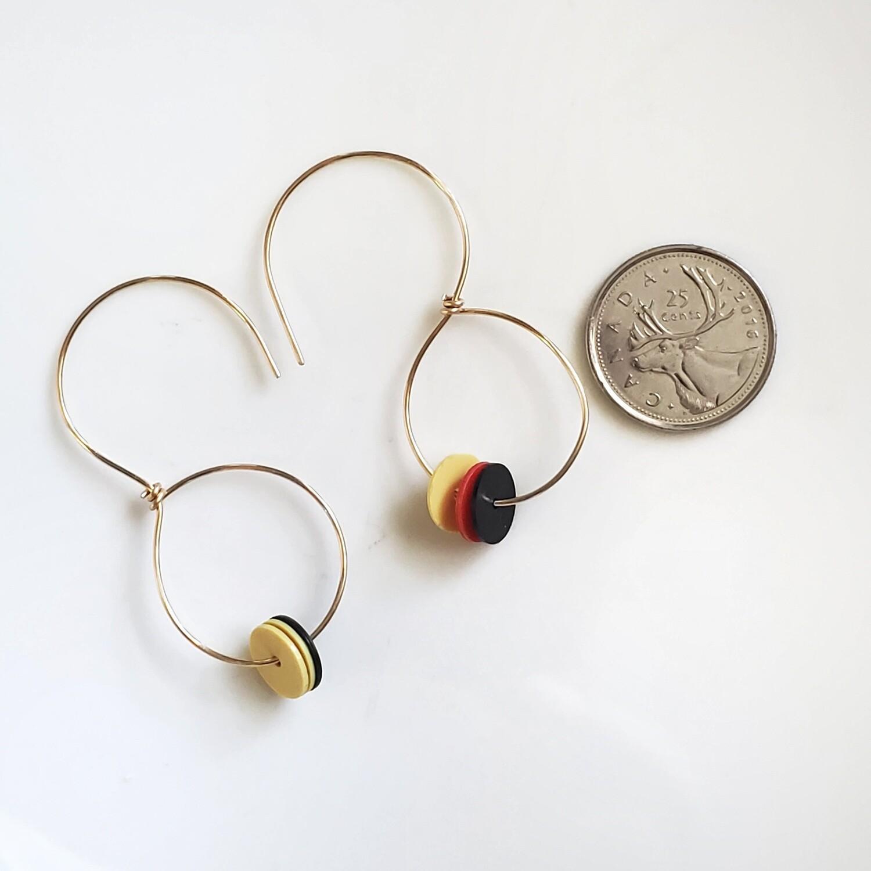 Gold Filled Handmade Beaded Hoop Earrings