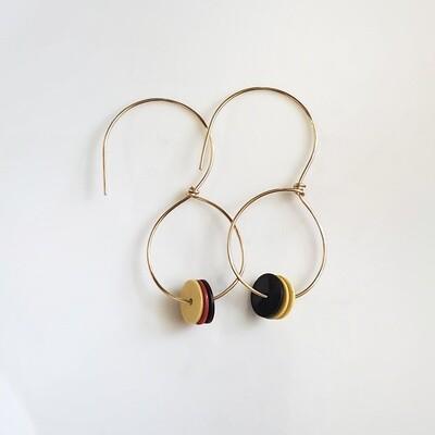 Handmade Gold Filled Beaded Hoop Earrings