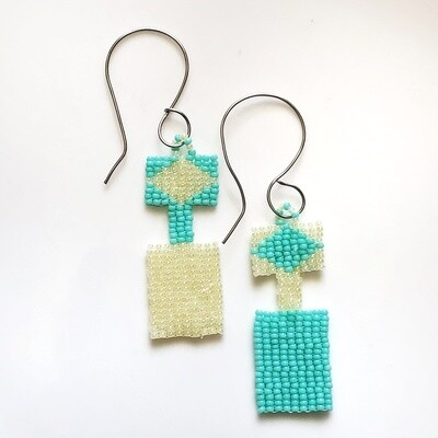 Geometric Handmade Multicolored Dangle Earrings