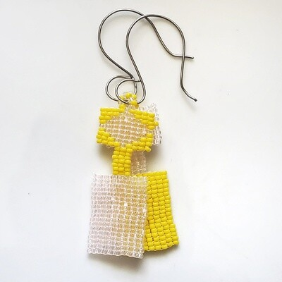 Geometric Multicolored Dangle Handmade Earrings