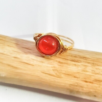Gold Plated Carnelian Gemstone Rings