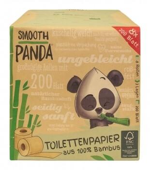 Bambus-Toilettenpapier, 8 Rollen á 200 Blatt