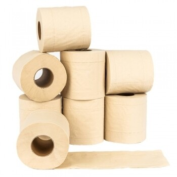 1 Rolle Toilettenpapier aus 100% Bambus (á 200 Blatt, 3 lagig)