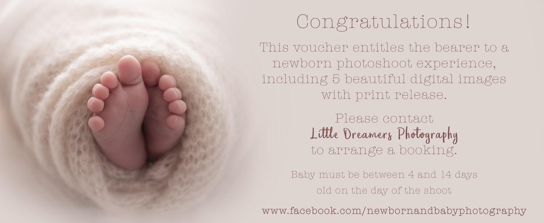 Newborn Photography Gift Voucher