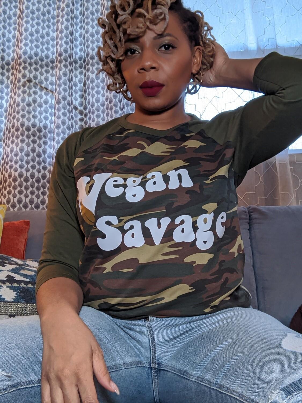 Vegan Savage Camo Unisex Tee