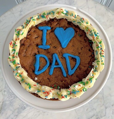 I Heart Dad Cookie Cake
