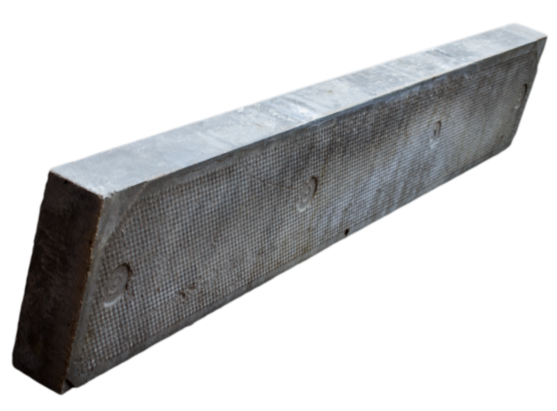 Concrete flat top edge