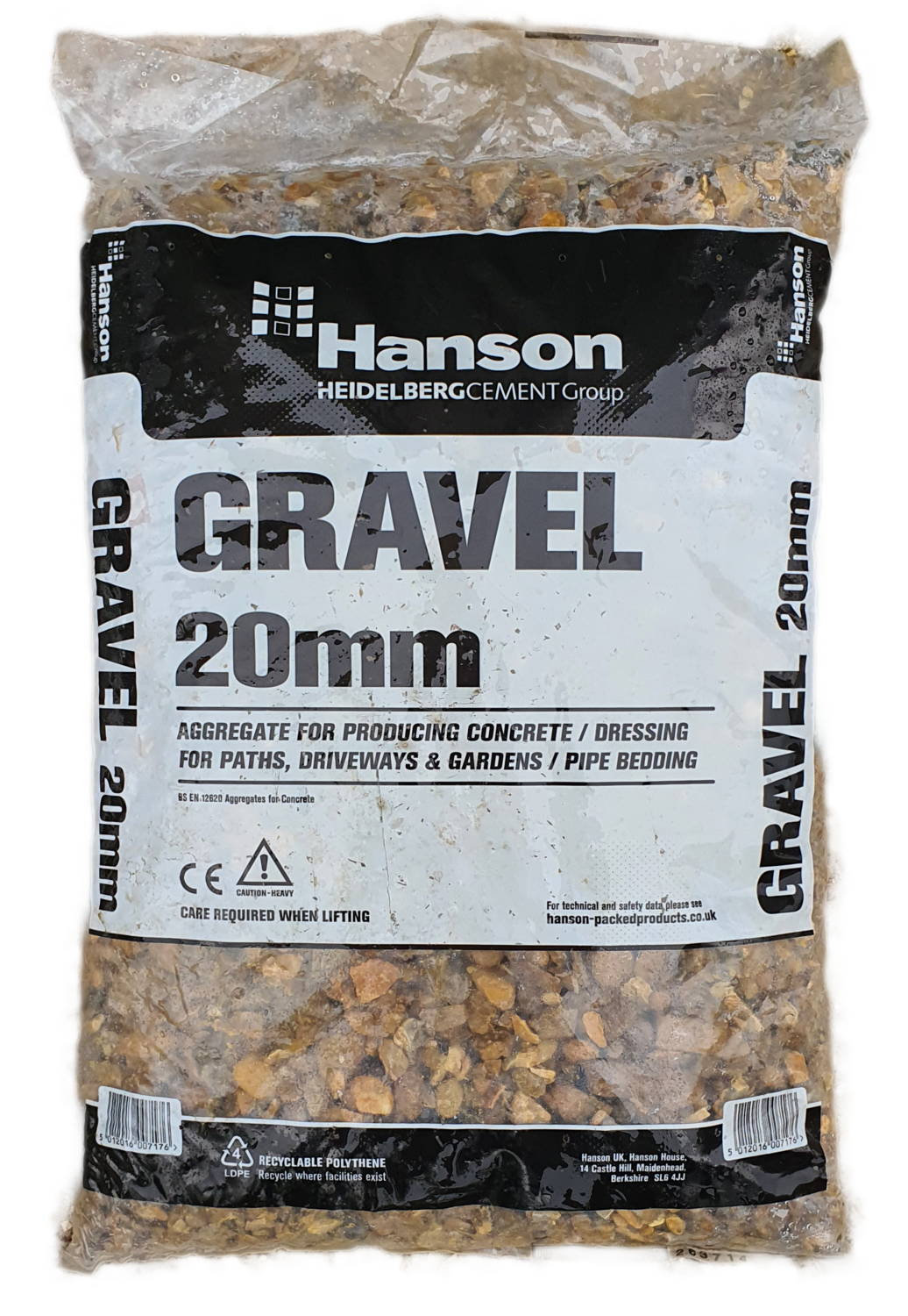 Hanson 20mm Gravel 25kg Bag