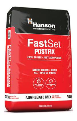 Hanson Fastset postfix 20kg Bag