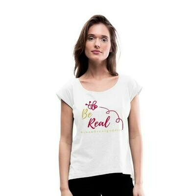 Be Real Roll Cuff Tee in White