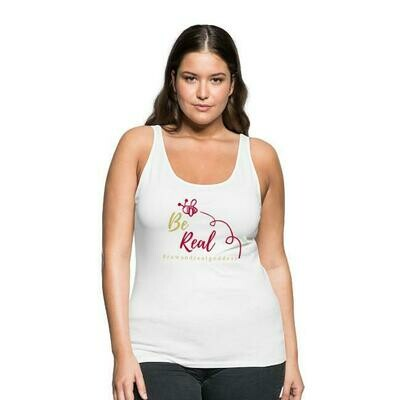 Be Real Premium Tank Top in White