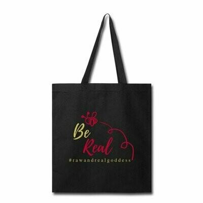 Be Real Tote Bag in Black